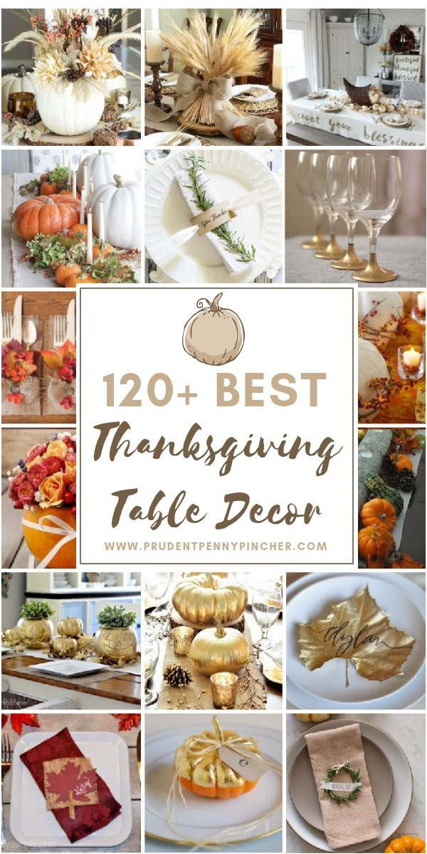 120 best thanksgiving table decorations prudent penny pincher rh prudentpennypincher com  images of thanksgiving table decorations