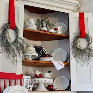 Christmas Corner Cupboard