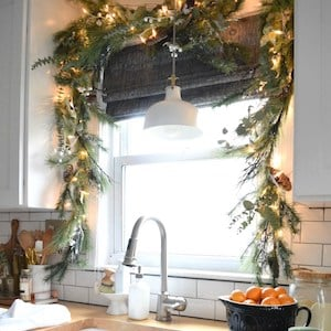 Starry Christmas Lights in Windows Christmas Kitchen Decor