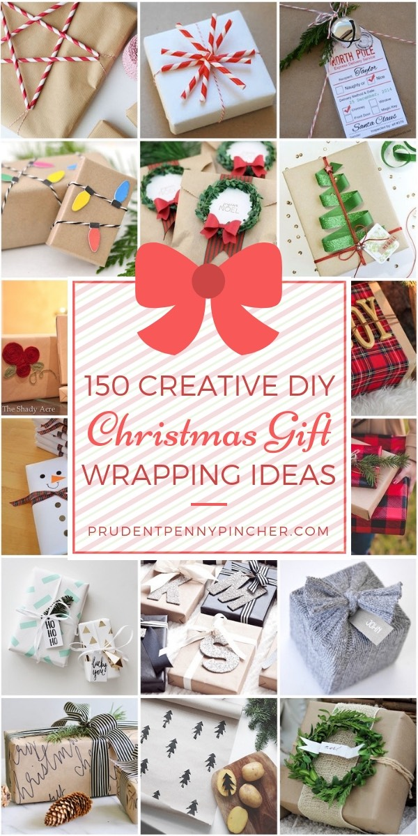 150 Creative DIY Christmas Gift Wrapping Ideas - 150 Creative Christmas Gift Wrapping Ideas - Prudent Penny Pincher