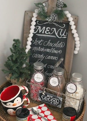 Decorated Christmas Kitchen Canisters
