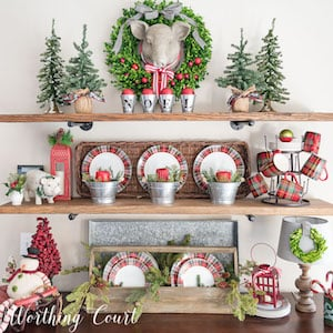 farmhouse christmas kitchen nook from worthing court