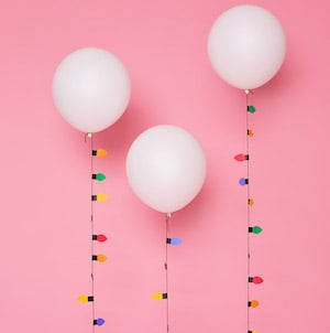 Christmas Light Balloon Garlands for party