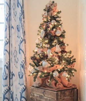 Wall Christmas Trees Ideas.50 Apartment Christmas Decorations Prudent Penny Pincher