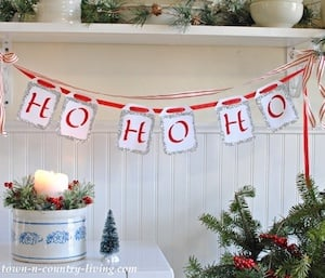 Quick and Easy Christmas Party Banner