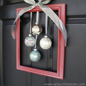 Framed Ornament Christmas Wreath