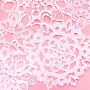 Giant Paper Snowflakes Christmas Party Decor