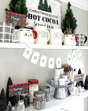 Hot Cocoa Bar Christmas Kitchen Decor