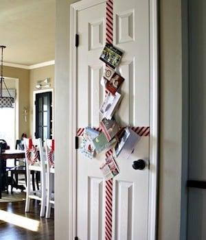 Easy Christmas Card Display Door Decoration