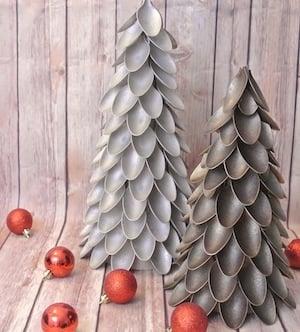 Plastic Spoon Mini Christmas Tree