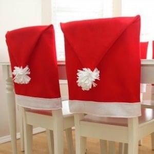 Santa Hat Chairs
