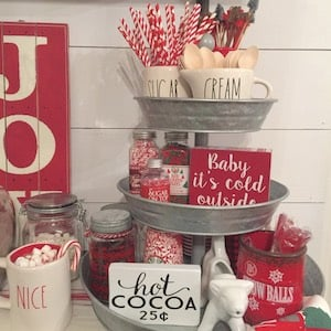 Believe Christmas Sign for Kitchen Counter