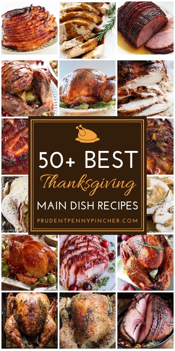 50 Thanksgiving Side Dishes To Be Grateful For - A Dash of ... |Thanksgiving Main Dishes