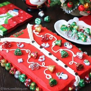 Ugly Sweater Christmas Party Cake