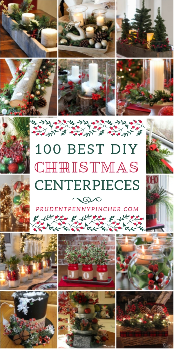 pin it on pinterest prudent penny pincher 100 best diy christmas centerpieces - Diy Christmas Centerpieces