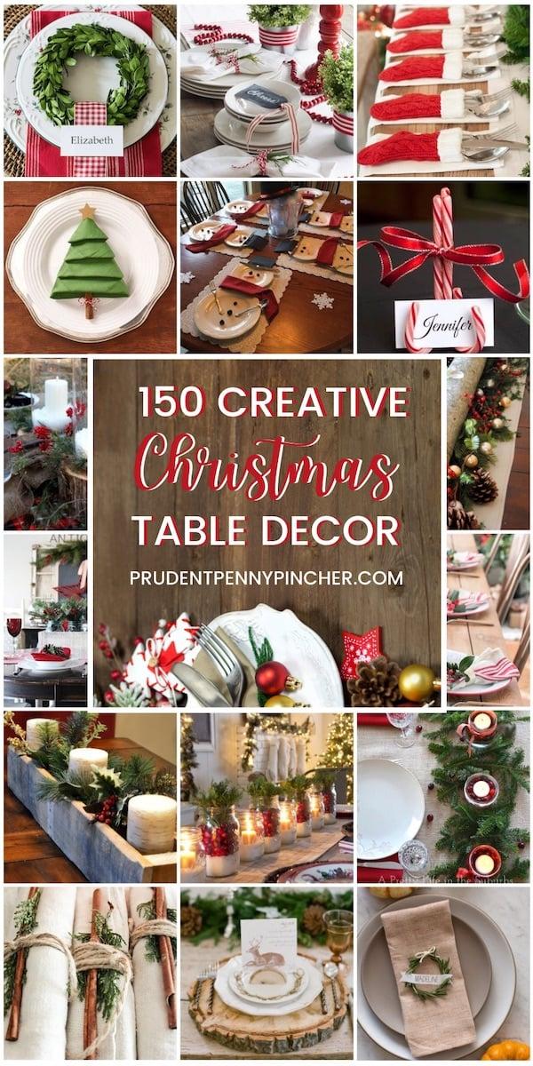 150 Creative Christmas Table Decorations