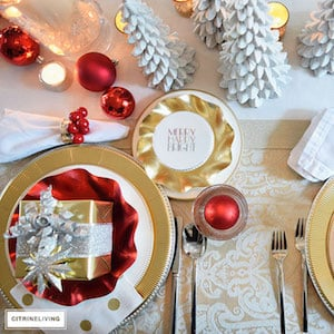 150 Christmas Table Decorations Prudent Penny Pincher