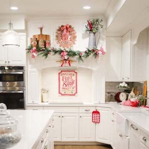 christmas kitchen cabinets from a thoughtful place