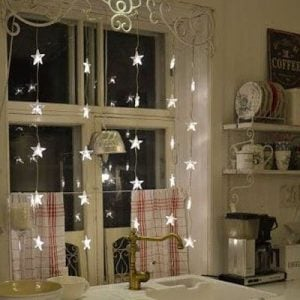 Dangling Window Star Lights (source unknown)