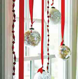 Christmas Ornament Window Decor