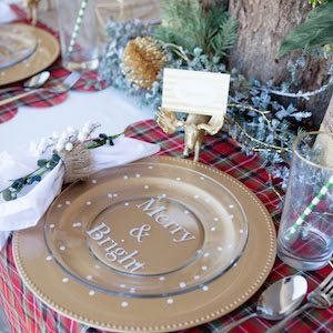 How to Decorate Up Dollar Store Plates for Christmas