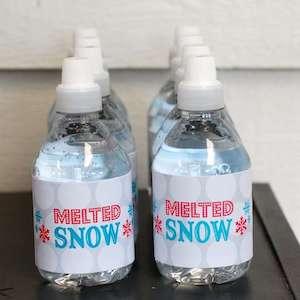 Melted Snowman Water Bottles