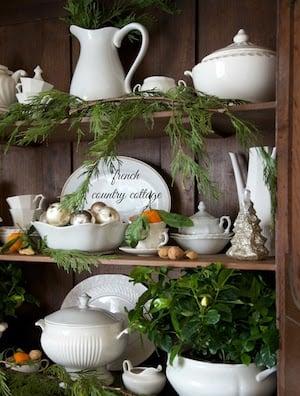 Natural Christmas Antique Buffet