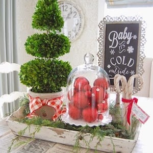 Christmas Beverage Tiered Tray