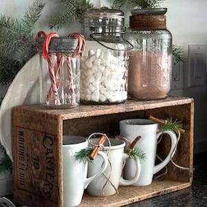 Farmhouse Christmas Galvanized Tiered Tray