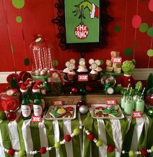 Merry Christmas Grinch Party Idea