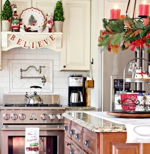 Farmhouse Christmas Kitchen from Clean and Scentsible