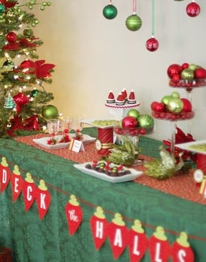 Christmas Ornament Exchange Party Idea for dessert table
