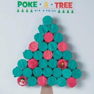 Poke Tree Christmas Party Game for kids