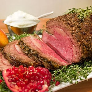 Prime Rib with Rosemary and Garlic christmas party dinner recipe