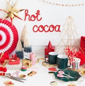 hot cocoa party DIY Clay Word
