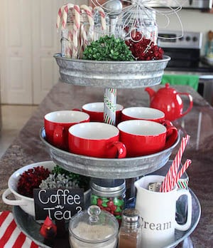 Dollar Tree Holiday Tiered Serving Tray