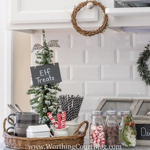 Christmas Tiered Tray Kitchen Decor