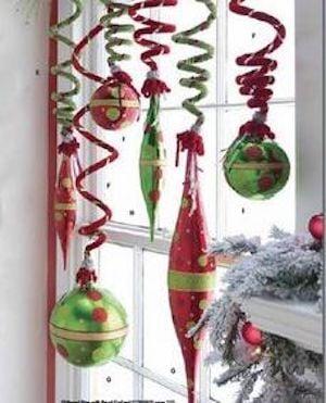 Window Grinch Christmas Decorations