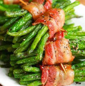 Individual Bacon Green Bean Bundles christmas party side dish