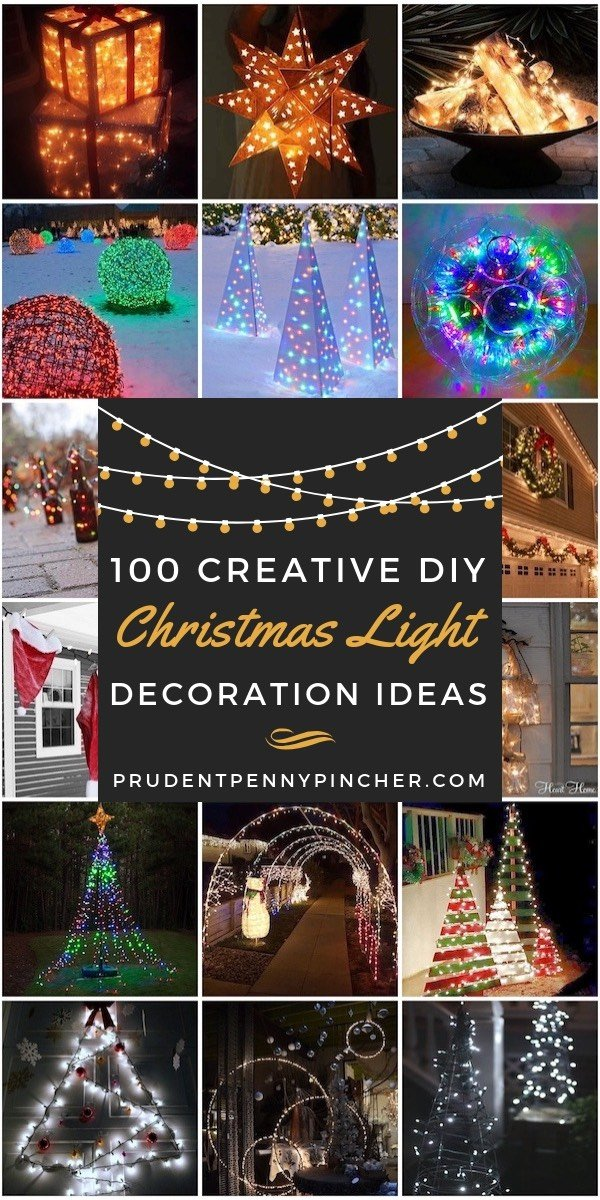 100 Creative DIY Christmas Light Decorations - 100 Creative DIY Christmas Light Decoration Ideas - Prudent Penny