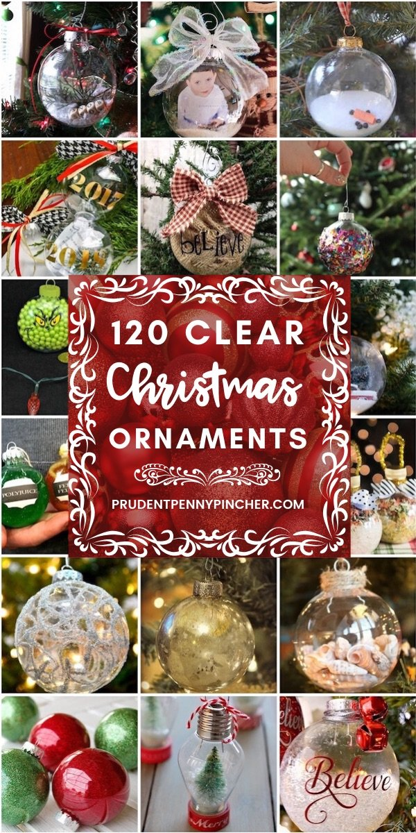120 DIY Clear Glass Christmas Ornaments , Prudent Penny Pincher