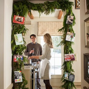DIY Christmas Card Garland for Doorway