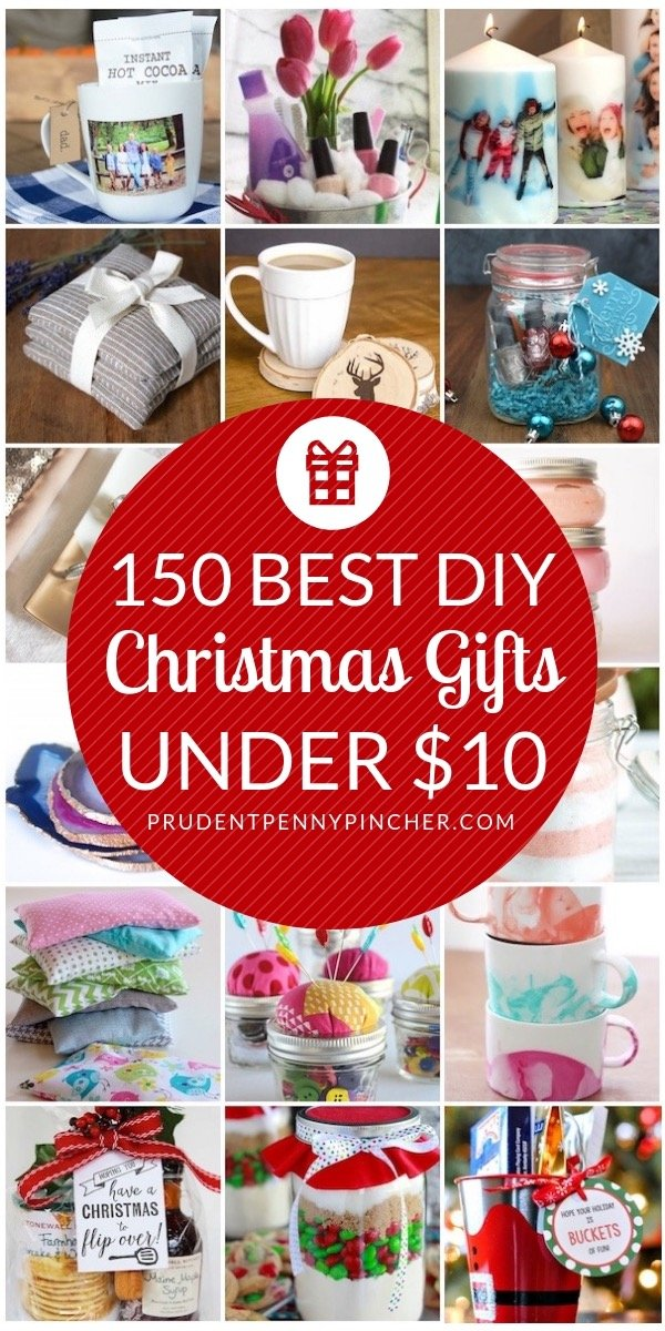 150 Best DIY Christmas Gifts Under $10 - 150 DIY Christmas Gifts Under $10 - Prudent Penny Pincher