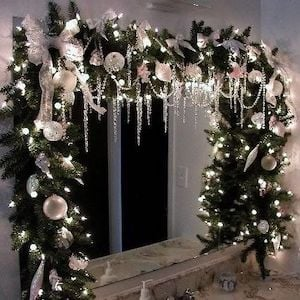 Icicle Garland for Christmas Window