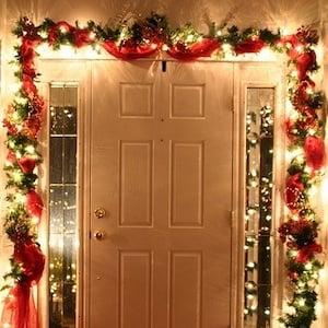 DIY Christmas Door Garland Decoration