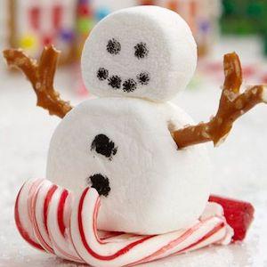 Skiing Marshmallow Snowman