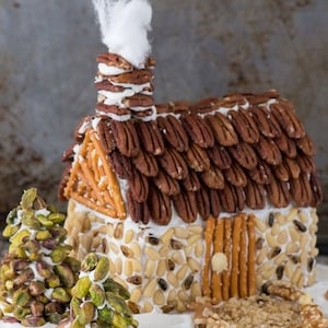 Gingerbread House with Pecan Roof