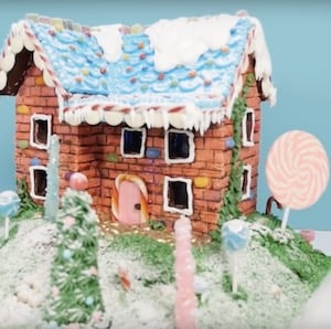 Two Story Gingerbread House idea