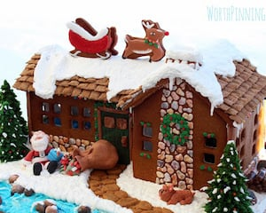 Up on the Rooftop Gingerbread House idea