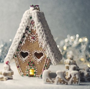 Frosty Christmas Gingerbread House idea